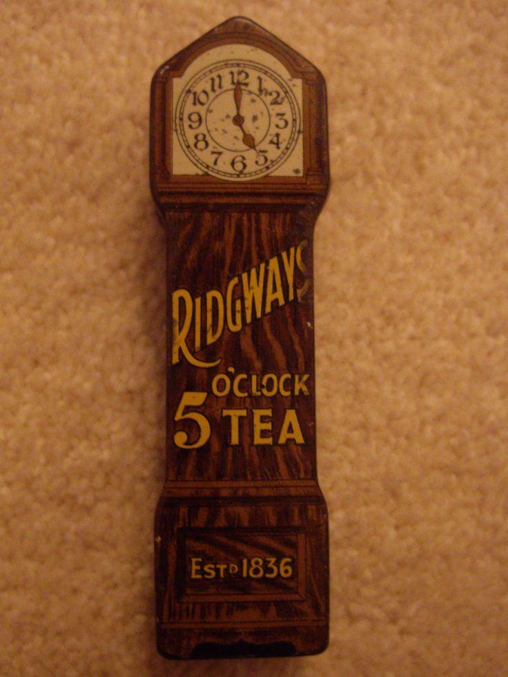 Ridgeway 5 o clock tea sample tin