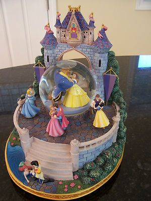 "RARE Disney Princess Royal Ball Large Musical Snowglobe Plays ""Once Upon A Dream 