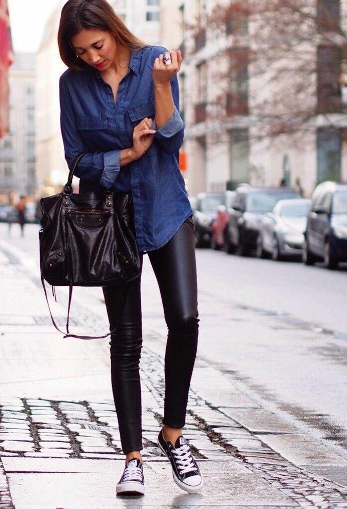 17 best images about mode on pinterest bijoux chemises - Comment porter une chemise en jean femme ...