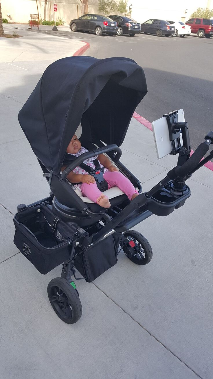 Ipad/Tablet mount on orbit stroller keeps baby entertained while out and about.