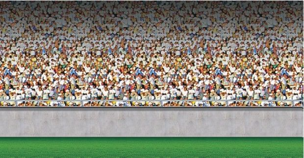 Sports crowd wall mural bedrooms parties baseball racing for Audience wall mural
