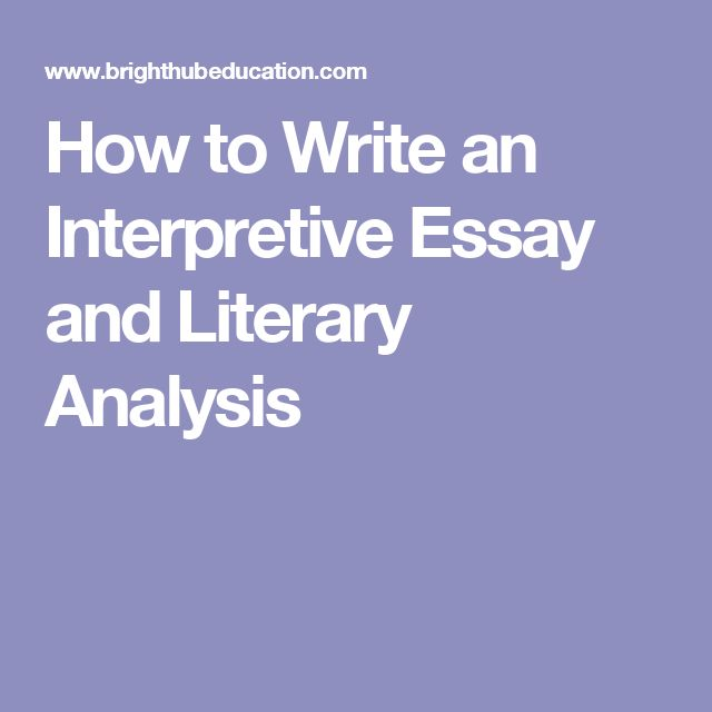 interpretive problem essay We will write a custom essay sample on interpretive essay specifically for you for only $1638 no problem here you will also find the best quotations, synonyms and word definitions to make your.