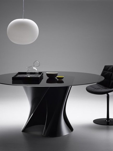 Crystal polyester table S TABLE by MDF Italia | #Design Xavier Lust #black #interiors
