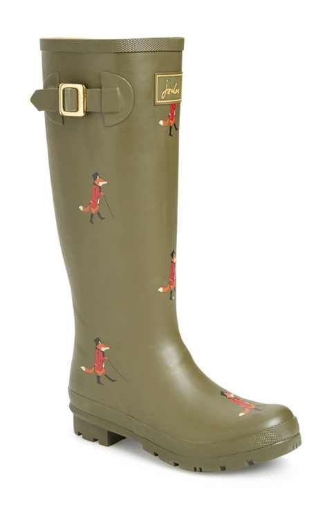 Joules 'Welly'PrintRain Boot (Women) - size 9 (on sale 40% off!)