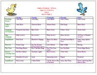 March Infant curriculum calendar for March for ages 6 to 9 Months