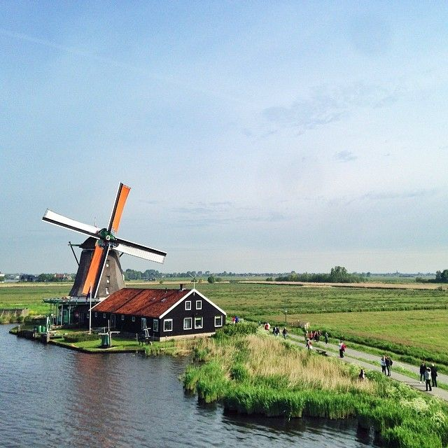 Holland's windmills are always picture-perfect. Photo courtesy of shaheensz on Instagram.
