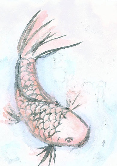 1000 images about art on pinterest japanese koi lotus for Blue koi fish meaning