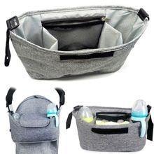 Baby Stroller Bag Stroller Bottle Cup Holder Multifunctional Storage Bag Kids Ba…