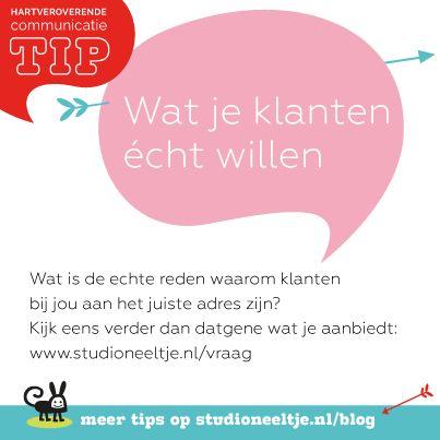 Iedere week een Hartveroverende Communicatietip van #StudioNeeltje