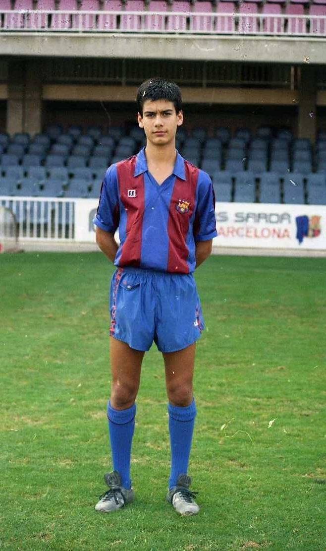 Pep Guardiola joined Barça as a 13-year-old. This photo was taken on October 6, 1988, a couple of months shy of his 18th birthday. Source:FC Barcelona #Guardiola #FCBarcelona #Barca #Football #Soccer #Fußball #Fussball