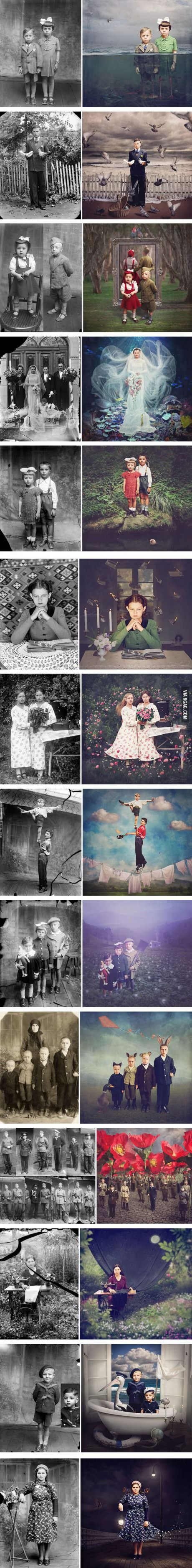 Historic Glass-Plate Photos From Romania Restored And Turned Into Colorful Art (By Jane Long)