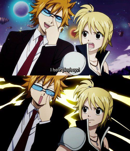 Ahahahaha! Buuurn! Fairy tail alternate planet Lucy and Lokie :D