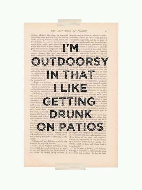 Donna?: Books Pages, Quote, Art Prints, Get Drunk, Patio, So True, True Stories, I M Outdoorsy, Dictionary Art
