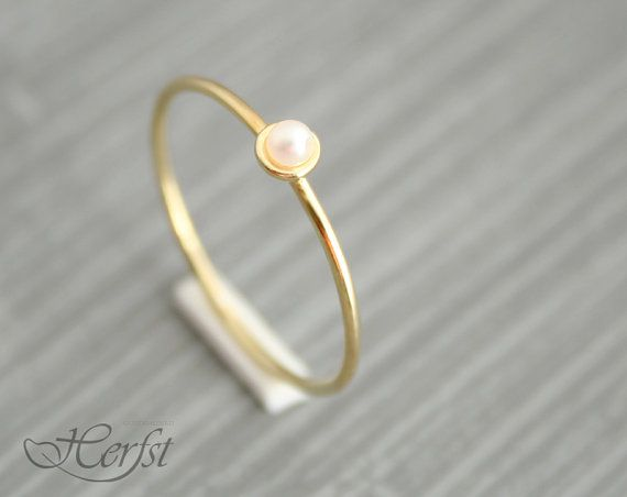 14k Pearl Solid Gold Ring Engagement Ring Wedding Ring Gold Pearl