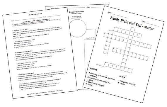 sarah plain and tall activities school work pinterest activities. Black Bedroom Furniture Sets. Home Design Ideas