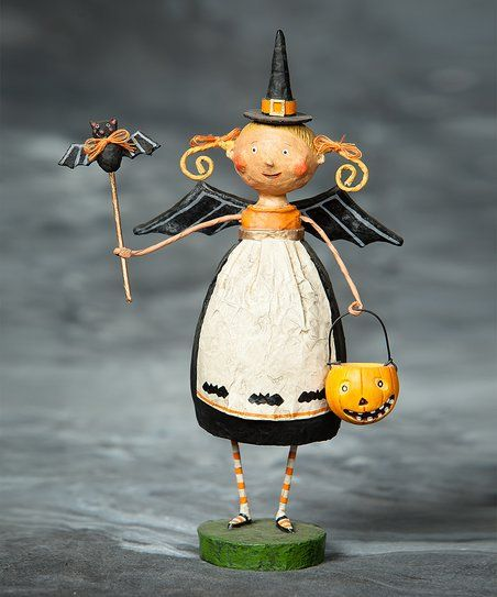 Spook up décor in time for October with this adorably festive figurine! Sitting on the mantel or in the entryway, it makes an eye-catchingly eerie decorative piece beside a bowl of trick-or-treat sweets.