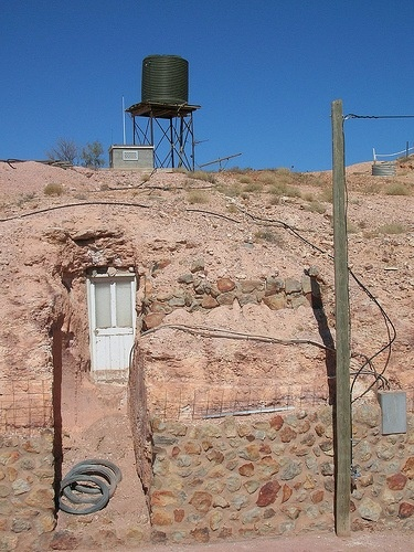 Door of a Coober-Pedy (underground house in South Australia)