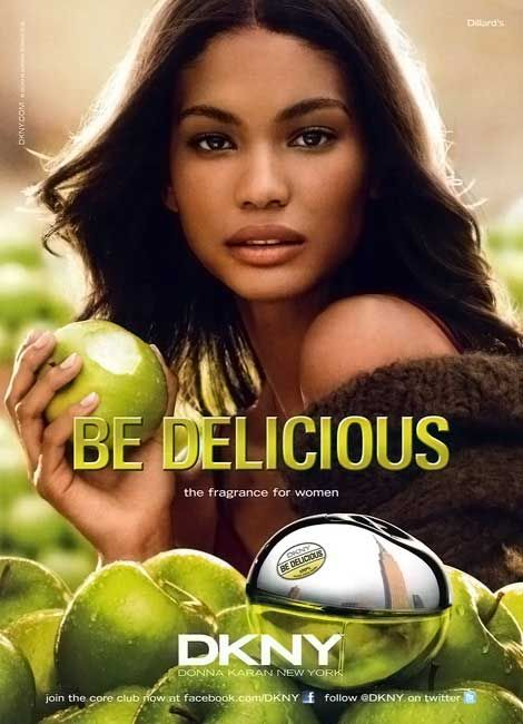 Chanel Iman DKNY Be Delicious 2011 ad campaign