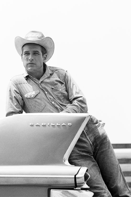 "Cadillac (Paul Newman, 1962, on the set of ""Hud"")"