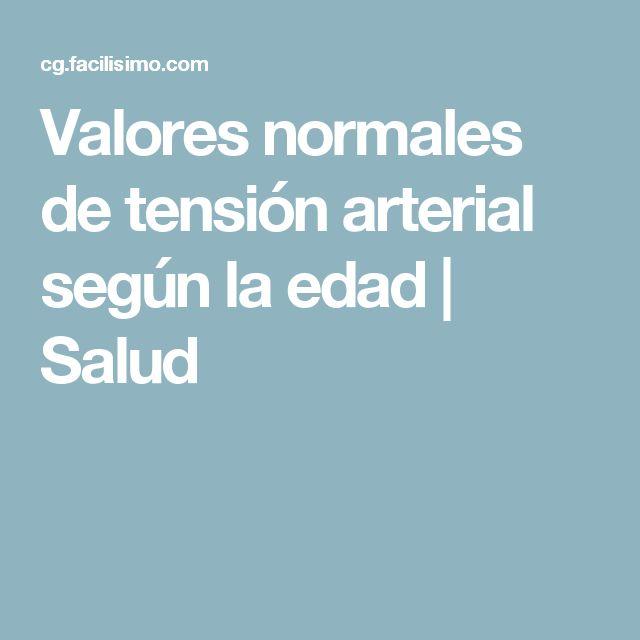Valores normales de tensión arterial según la edad | Salud