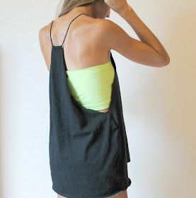Trash To Couture: DIY: 5 min Tshirt Refashion
