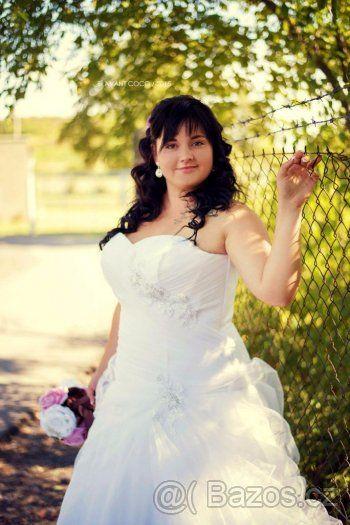 Tylové svatební šaty - 1