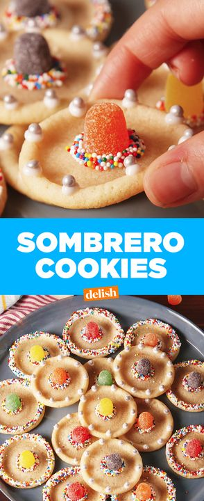 These Sombrero Cookies are the cutest way to celebrate Cinco de Mayo. Get the recipe from Delish.com.