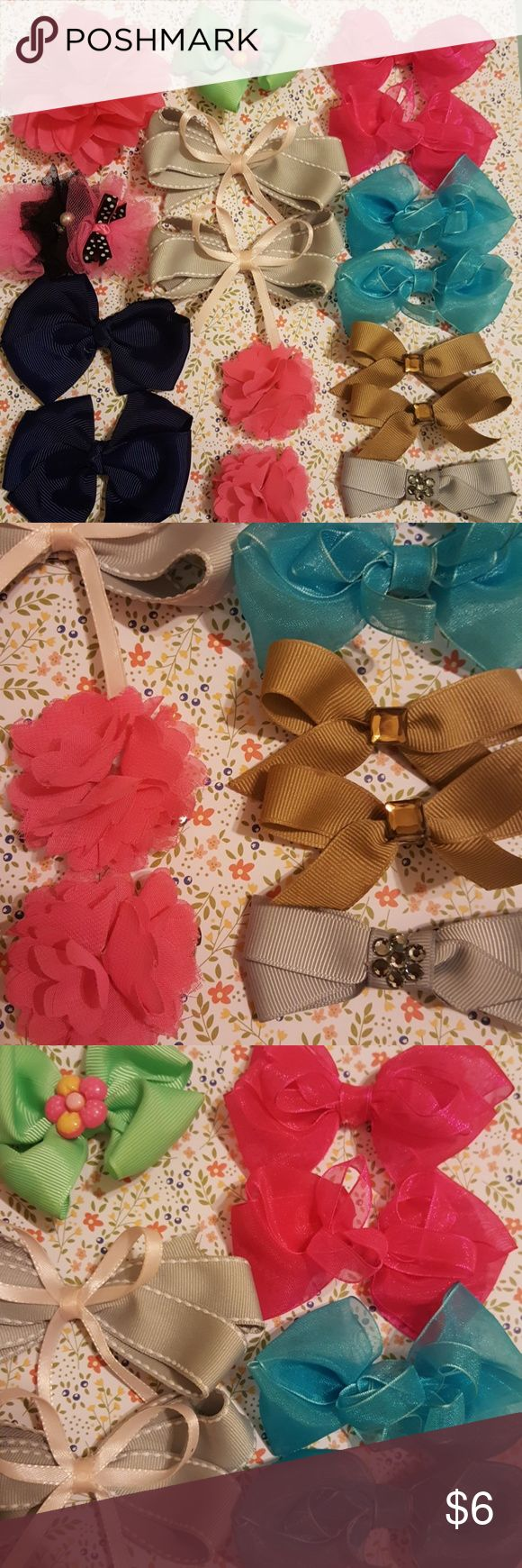 🎀 Little girl neon hair clip accessories 🎀 2 pairs of neon tone hair clips made of chiffon. All in good used condition. Fushia and electric blue. Make two pony tails add the bows, and voila, she is ready! Add any of these bows to a dress or outfit listing. Accessories Hair Accessories