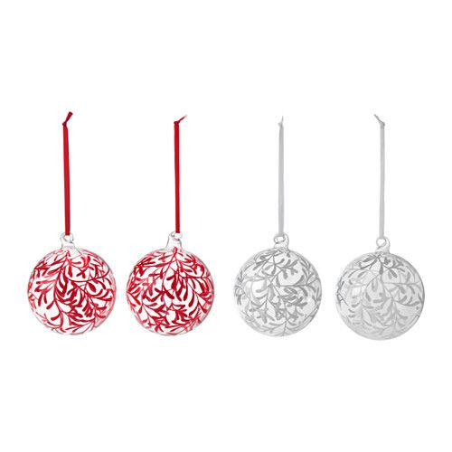 IKEA - VINTERMYS, Decoration, bauble, Easy to hang up since it comes with ribbons already attached.Mouth blown and hand-painted; each decoration has been shaped by skilled craftsmen.