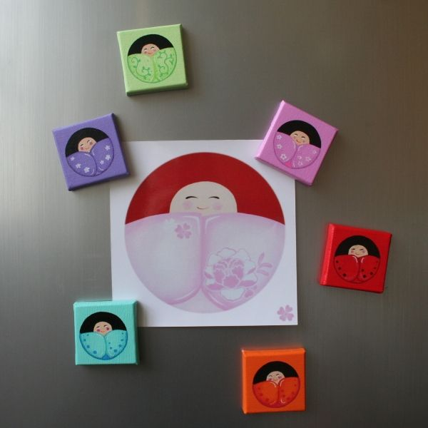 25 best images about kokeshi on pinterest turquoise for Petit tableau magnetique