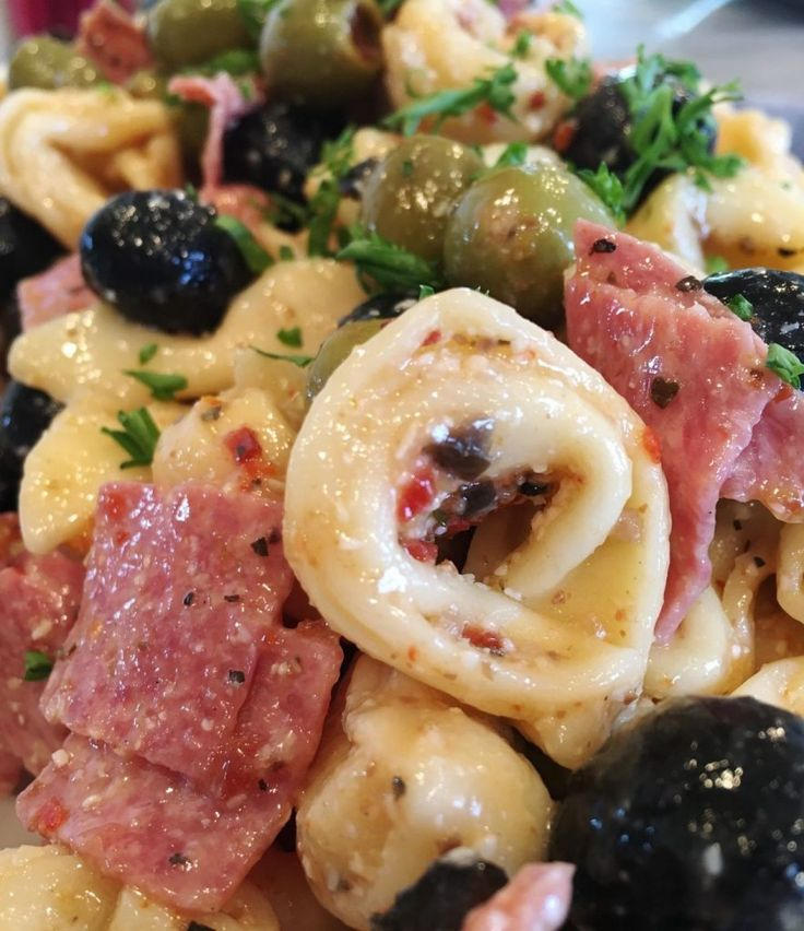 """I'm sharing our very favorite pasta salad today! The birds at this Nest L.O.V.E. this tortellini olive salad…especially the """"Big Bird""""! It's his all time favorite sala…"""