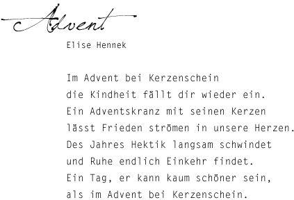 advent gedichte kurz - Google Search