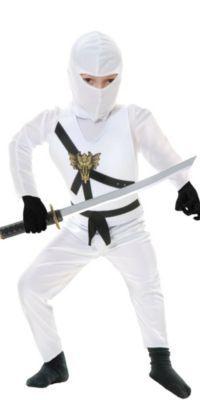Boys White Ninja Avenger Costume