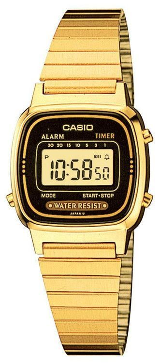 Casio Women's Daily Alarm Digital Watch LA670WGA-1 Gold Tone