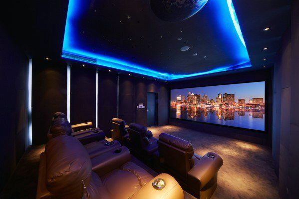 Top 40 Best Home Theater Lighting Ideas Illuminated Ceilings And Walls In 2020 Home Theater Lighting Best Home Theater Home Theater