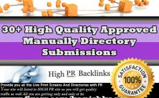 submit your Site to 30 High Quality Approved Directories
