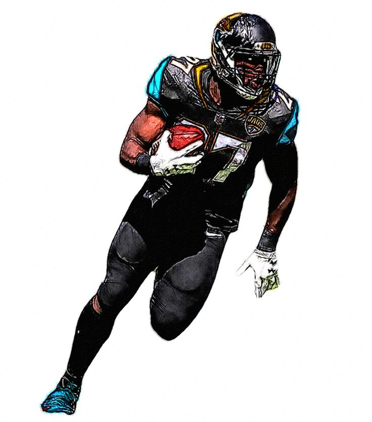 Leonard Fournette Jags Rb Nfl Football 49ers Football Illustration Saints Football