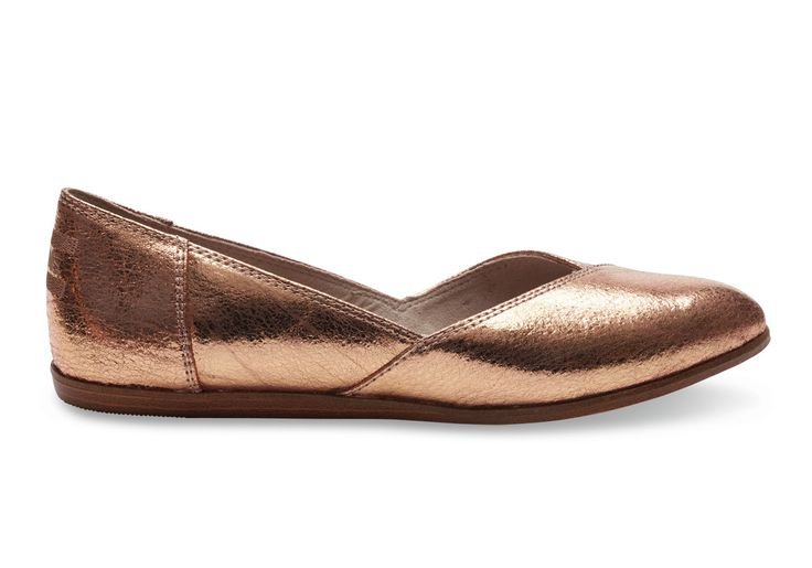 Rose Rose Gold Leather Women's Jutti Flats