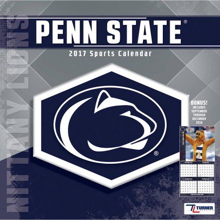 Turner Sports 2017 12 inch x 12 inch Team Wall Calendar, Penn State Nittany Lions, Multicolor