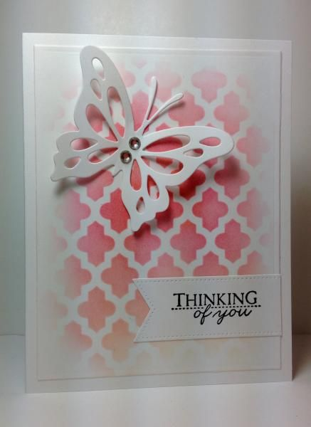 Life is Beautiful Butterfly die: PTI, stencil, by beesmom - Cards and Paper Crafts at Splitcoaststampers