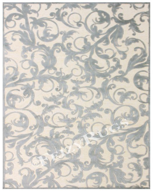 Saphir Zam Silver Area Rug  $199.99 Sku:104357 Dimensions:63Wx90Dx1H  Power loomed in a high-low pile of art silk, the designs seem to possess a metallic sheen that makes each of the transitional patterns come to life. Please visit our website for warranty and benefits.
