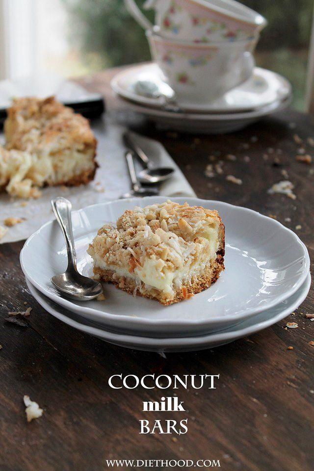 Coconut Milk Bars | www.diethood.com from @Kate Petrovska | Diethood
