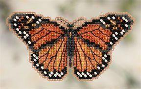 Monarch Butterfly Fridge Magnet Cross Stitch Kit   sewandso