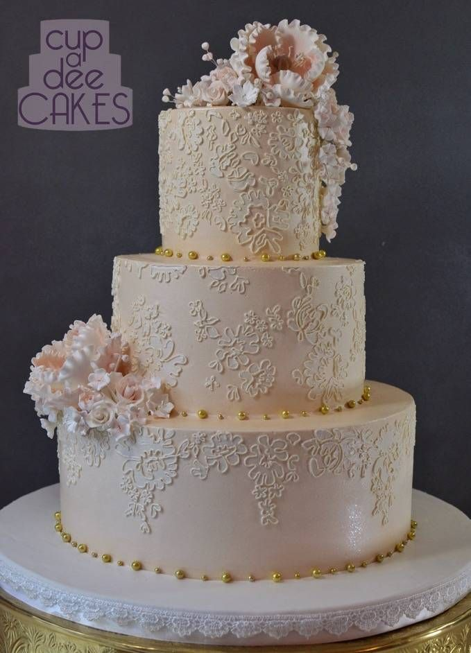 blush pink and gold wedding cake 17 best images about wafer paper cakes on 12040