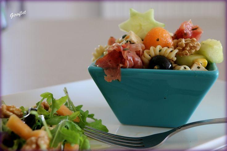 Salade de pâte aux jambon cru et fêta