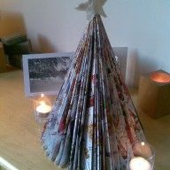 How to make this Christmas tree from junk mail