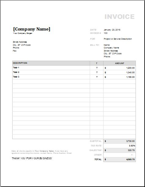 11 invoice templates for all businesses - Invoices For Businesses