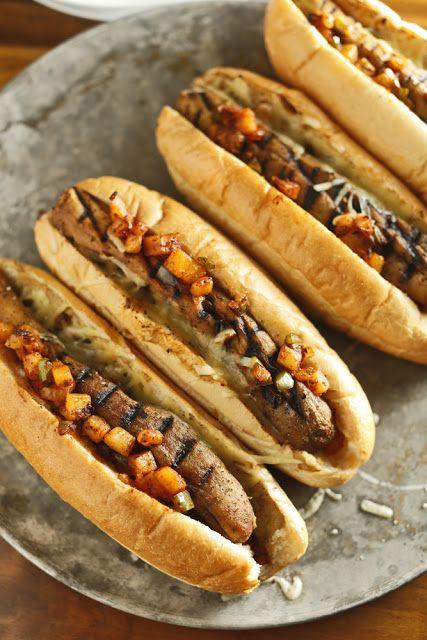 "Italian-style aubergine ""sausages"""