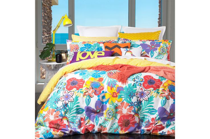 Harvey Norman - Tropicana Summer Duvet Cover Set by Logan and Mason