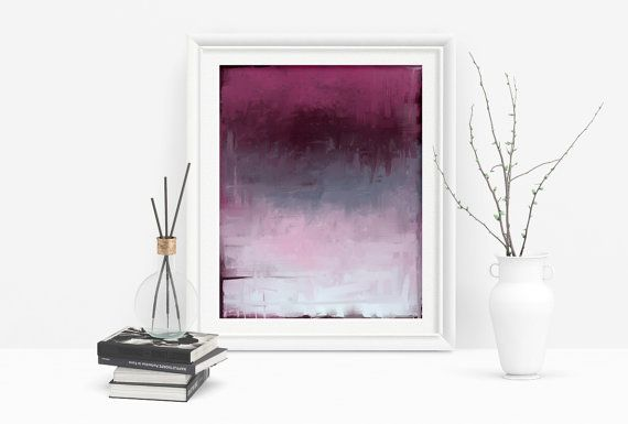 Printable Abstract Art in Magenta and Grey by PlayfulPixieStudio. Simple, affordable art, ready to download!  A modern touch for any home decor, available in several sizes up to 16x20 inches to suit any space :) #abstractart #homedecor #wallart